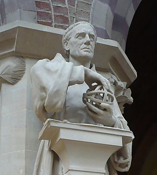 Roger Bacon Statue in Oxford