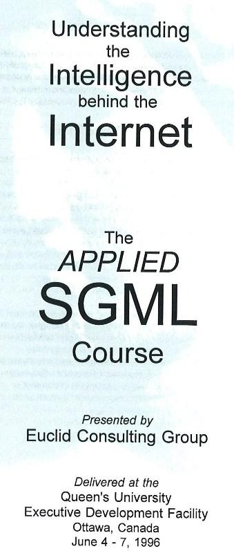 SGML Course (1996)