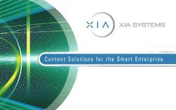 XIA Systems Corporation: Content Solutions for the Smart Enterprise