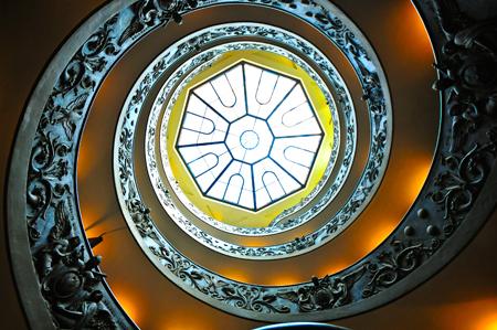 Vatican Spiral Staircase Skylight (JohnMiner.com)
