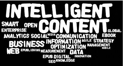 Intelligent Content - Image generated by Wordle.net