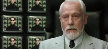 The Architect is unimpressed by Neo's state of unawareness