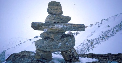Inukshuk in a Harsh World