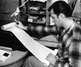 Jack Kerouac with Scroll
