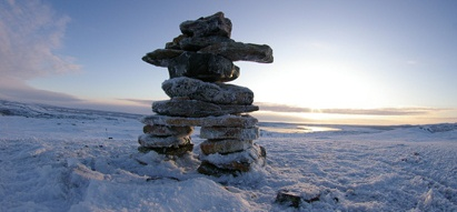 Inukshuk on the Tundra