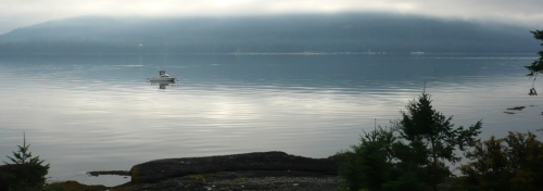 The Morning View of Hornby Island
