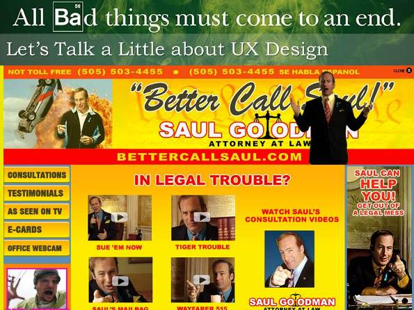 Saul Goodman and UX Design