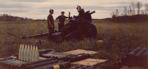 Firing Troop in Shilo Manitoba