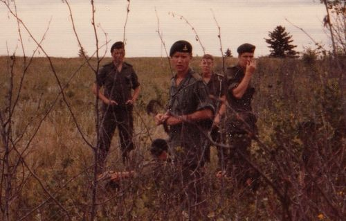 Gunners in the Field (that's me in the center)