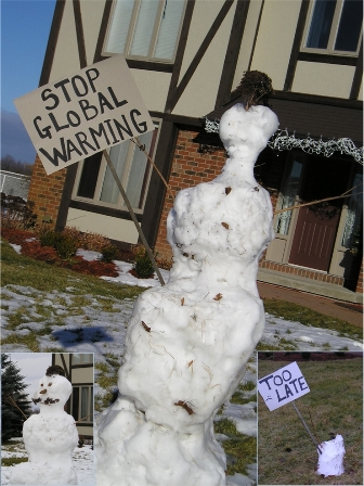 Punk Snowman and Global Warming