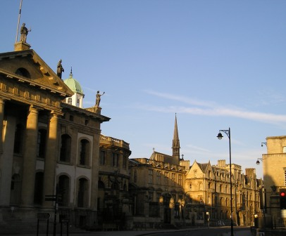 Center of Oxford at Sunrise